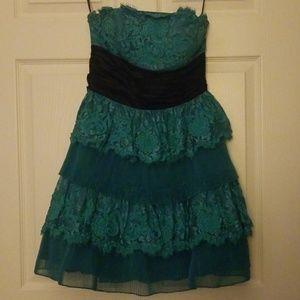 Betsy Johnson Blue Ruffle Dress